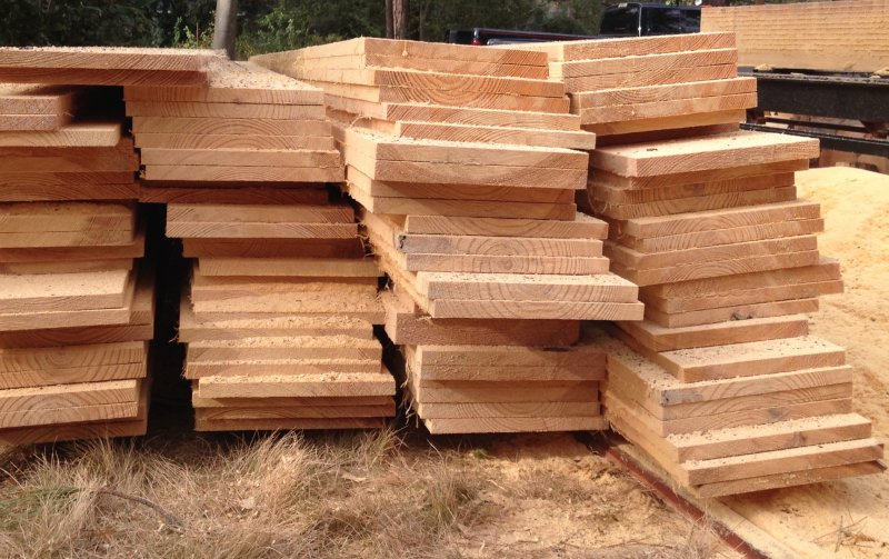 Milling pine trees for lumber to build a garden shed Pine tree timber